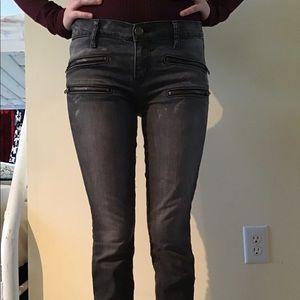 Current/Elliot gray zipper jeans
